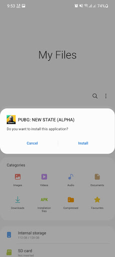 Screenshot of Pubg New State Alpha Test Mobile