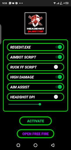 Screenshot of Headshot Injector FF