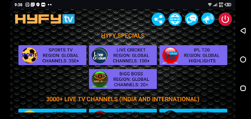 Screenshot of HyFy TV for Android