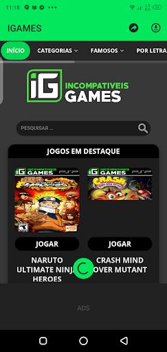 Screenshot of IGames Mobile App