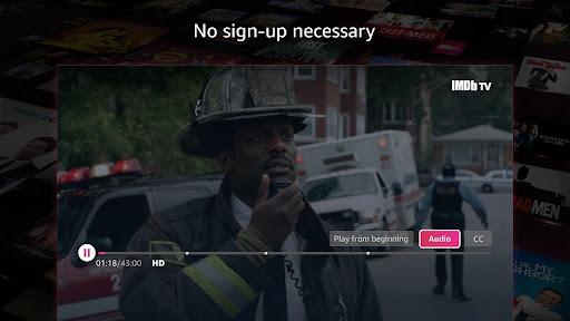 Screenshot of IMDb TV App