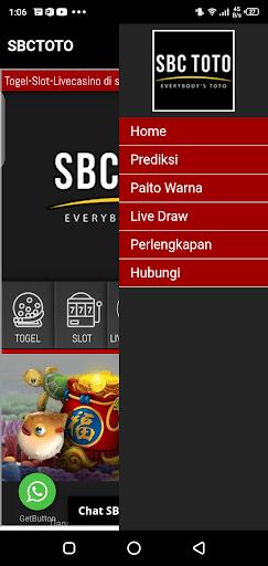 Screenshot of SBC Toto App
