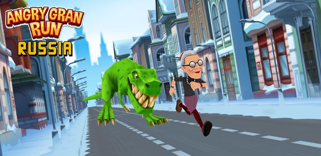 Angry Gran Run – Running Game Mod Apk Banner