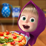 Masha and the Bear Pizzeria Game Pizza Maker Game v1.0.2 Mod (Unlocked + No Ads) Apk