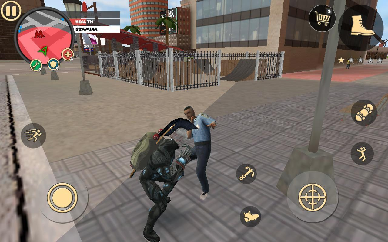 Rope Hero Vice Town Screen 1