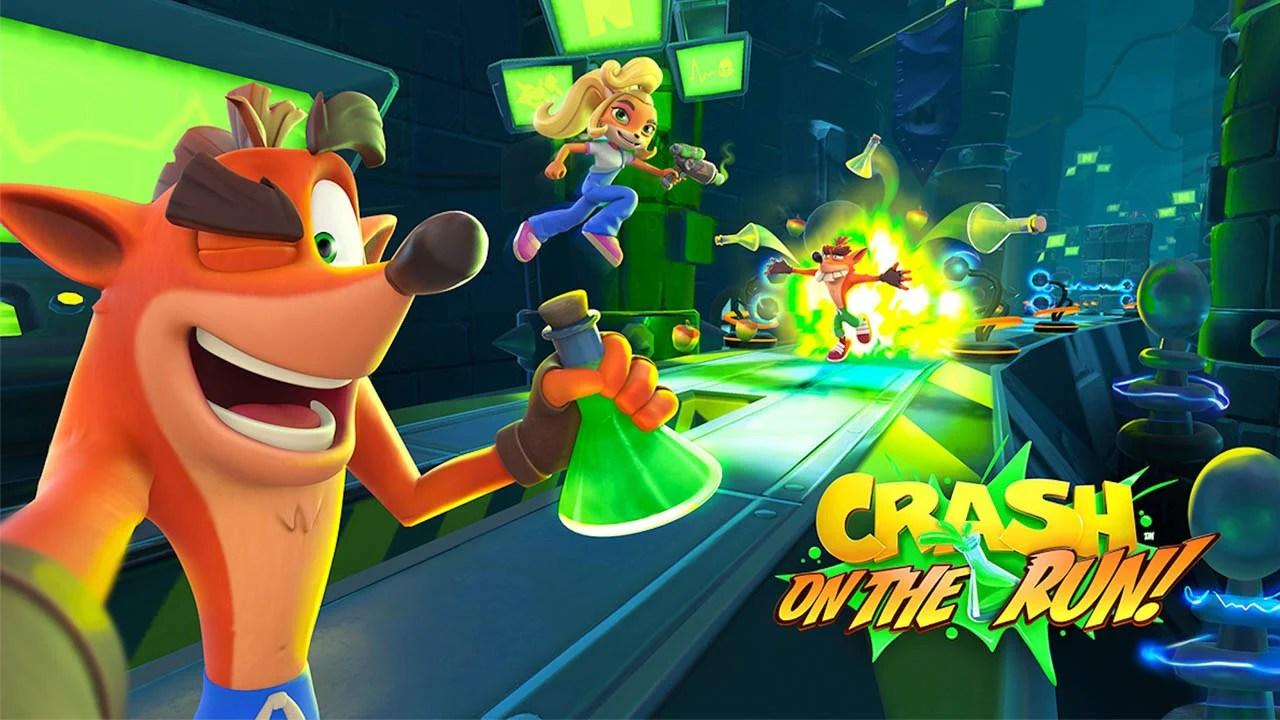 Crash Bandicoot on the Run Poster