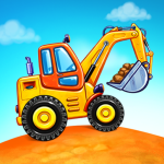 Truck games for kids – build a house car wash
