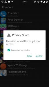grant permission of rooting