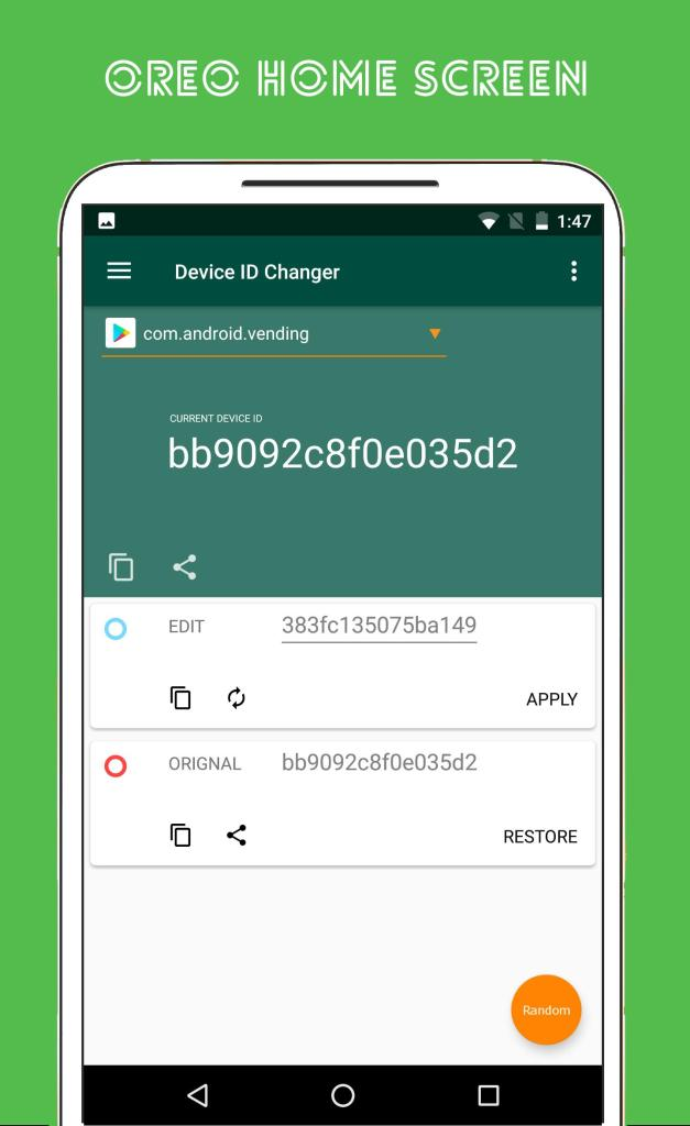 Device ID Changer -Restore all your Data with a Click