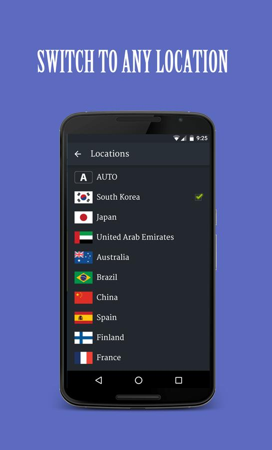 Solo VPN switch any location