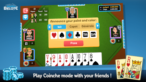 Multiplayer Belote amp Coinche 6.7.0 screenshots 2