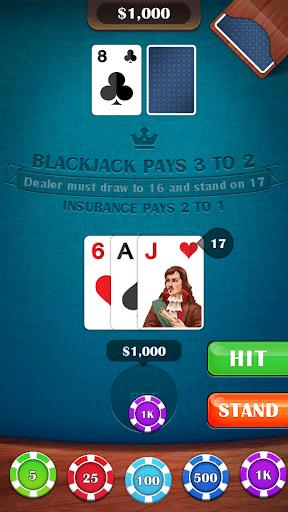 Blackjack 21 – casino card game 2.5 screenshots 14