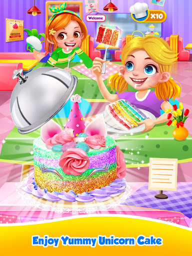 Unicorn Food – Sweet Rainbow Cake Desserts Bakery 2.8 screenshots 13