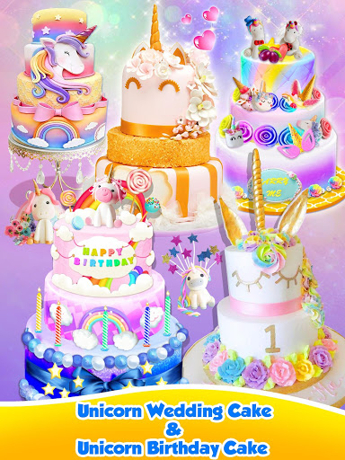 Unicorn Food – Sweet Rainbow Cake Desserts Bakery 2.8 screenshots 2