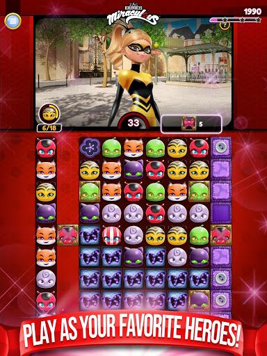 Miraculous Crush A Ladybug amp Cat Noir Match 3 3.0.1568 screenshots 10