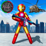 Iron Stickman Rope Hero War Gangstar OffRoad v 1.3 Mod APK