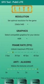 GFX Tool For PUBG Lite Fram Rate Screenshot