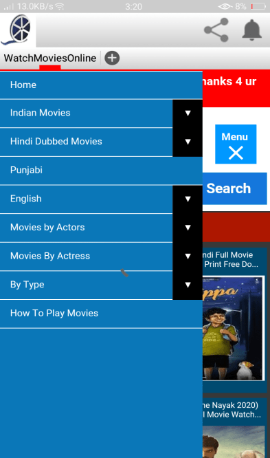 Screenshot of Watch Online Movies.com.pk