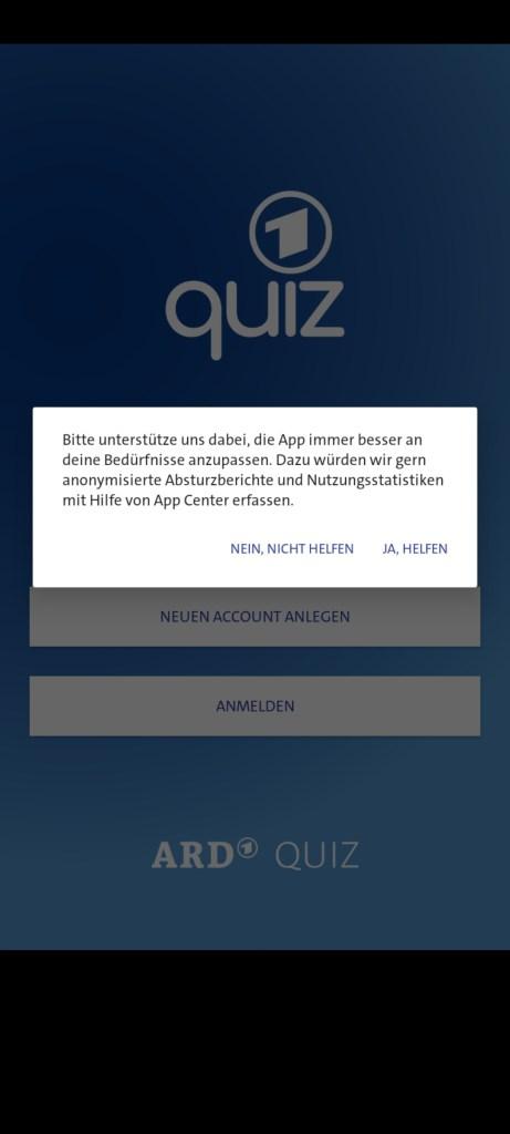 Screenshot of ARD Quiz App