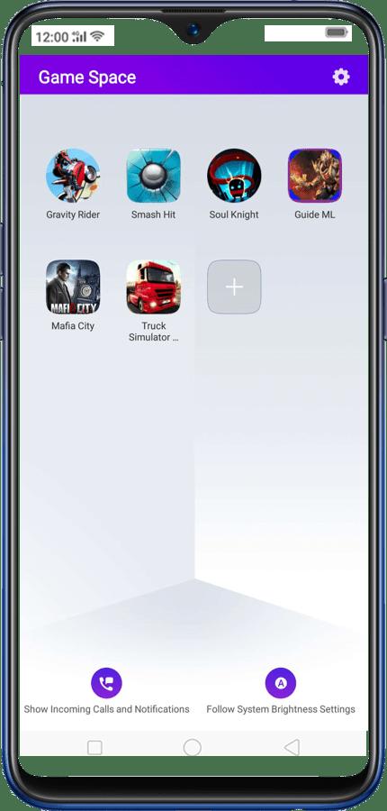 Screenshot of Realme Game Space Apk