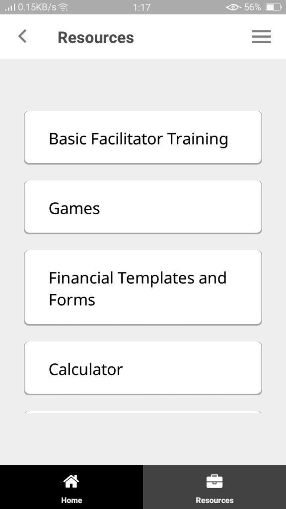 Screenshot of SHG Urban App
