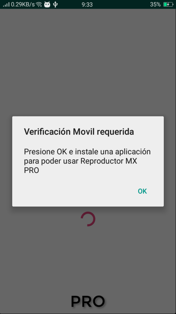 Screenshot of Reproductor MX Pro App