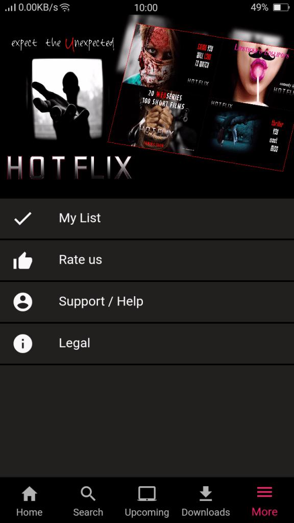 Screenshot of HotFlix App