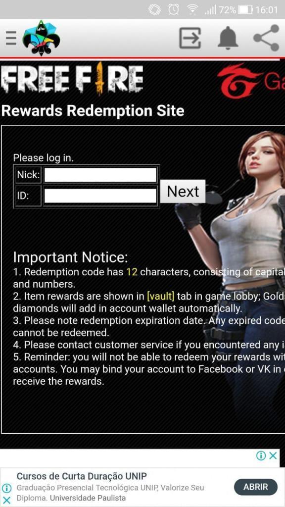 Screenshot of Reward FF Apk