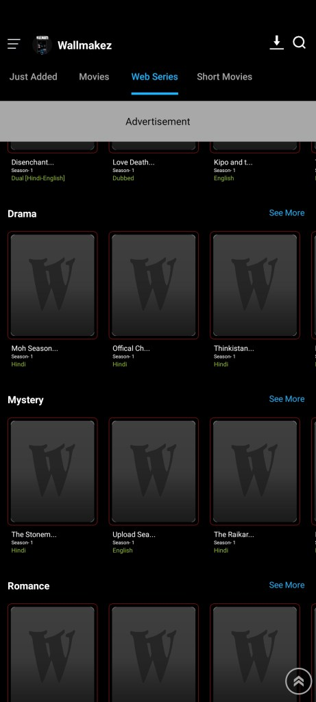Screenshot of Wallmakez App