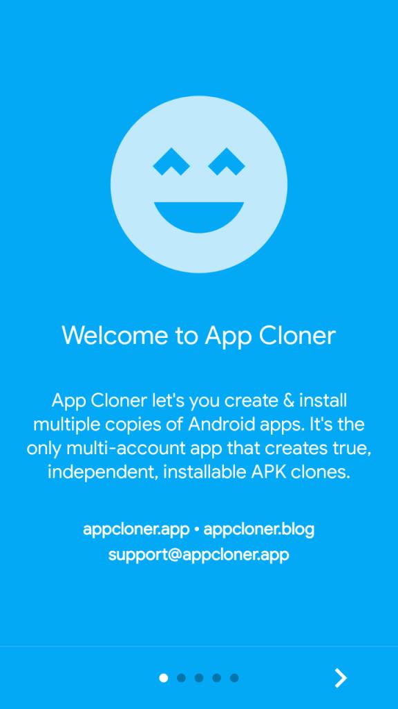 Screenshot of App Cloner Premium App