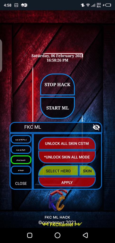 Screenshot of FKC ML
