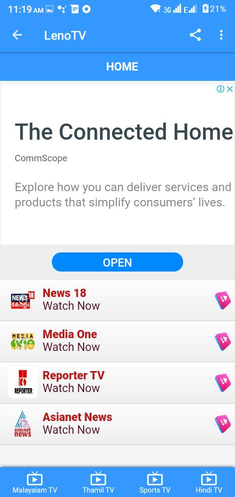 Screenshot of Leno TV