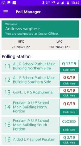 Screenshot of Kerala Election Result 2020 App