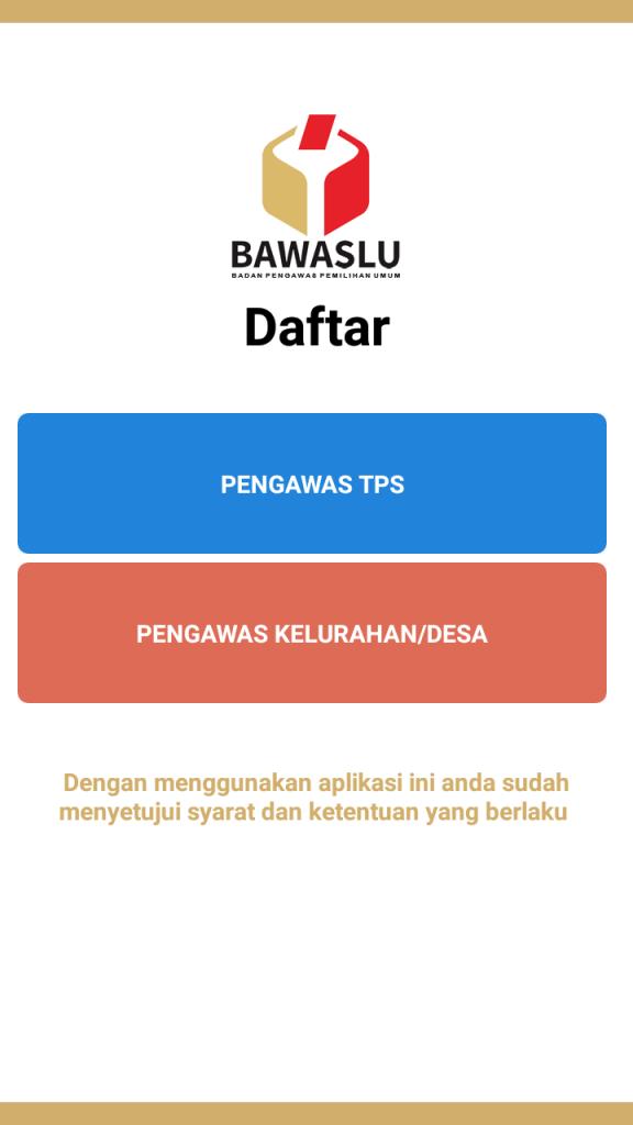 Screenshot of Siwaslu 2020 App