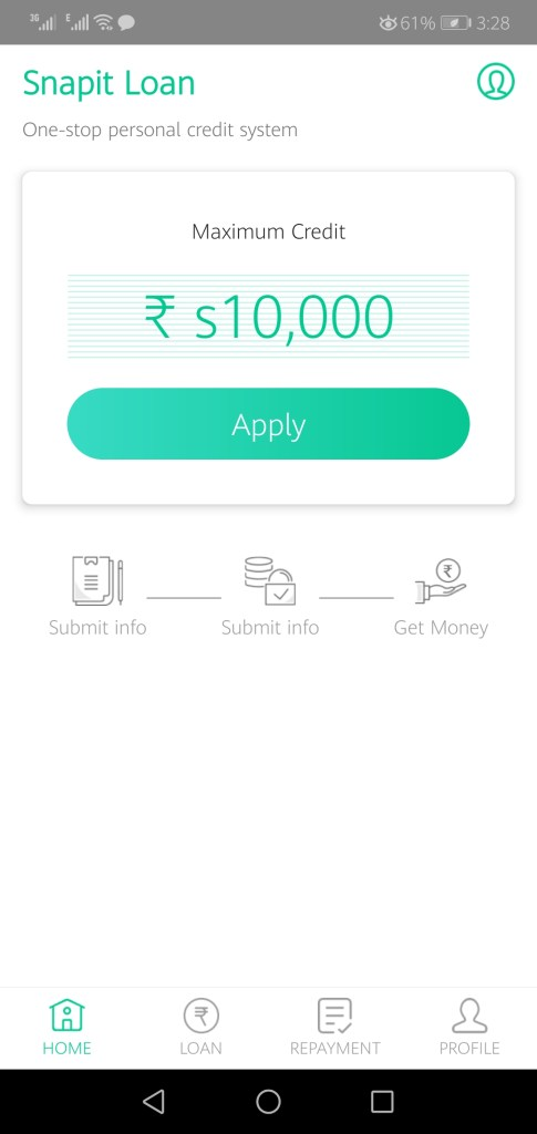 Screenshot of Snapit Loan Apk