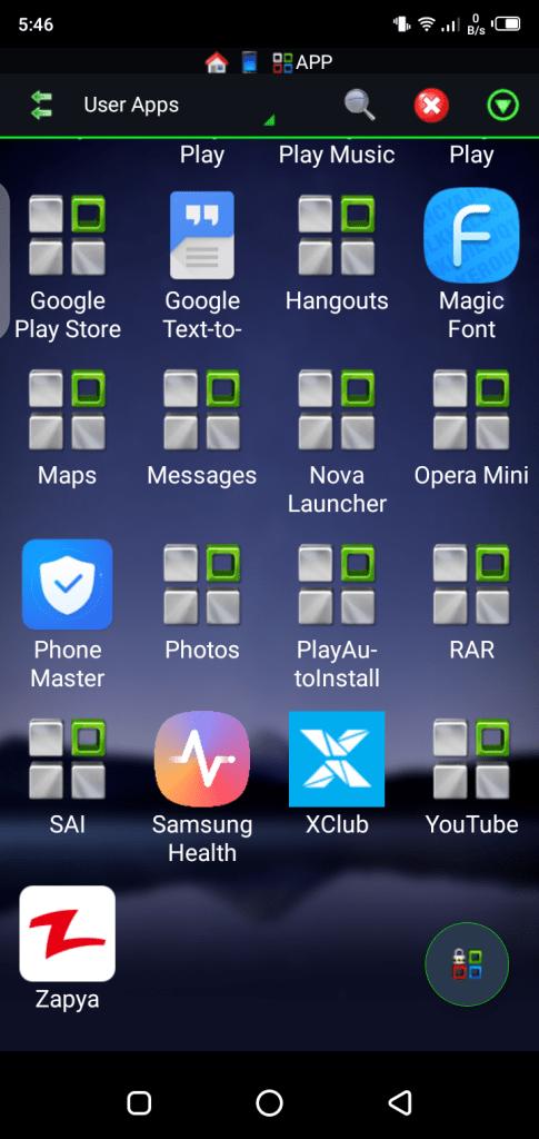 Screenshot of Samsung Health Monitor Android
