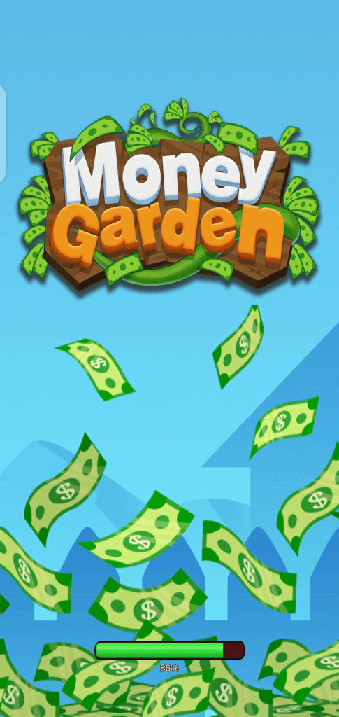 Screenshot of Money Garden App