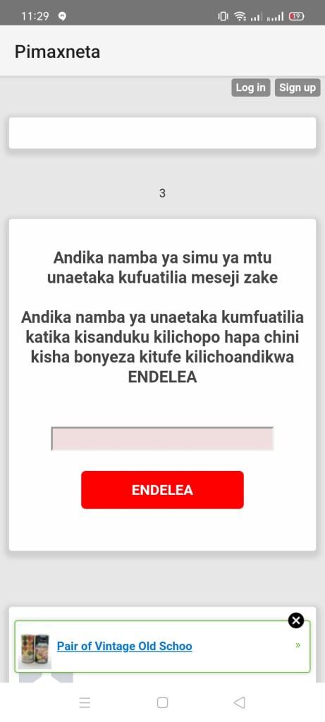Screenshot of Pimaxneta App