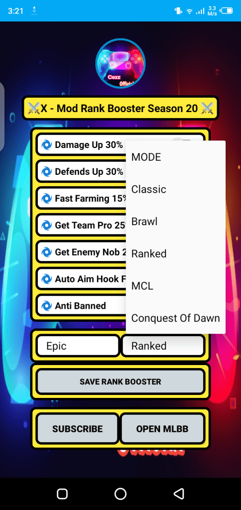 Screenshot of Rank Booster Cezz Official Apk