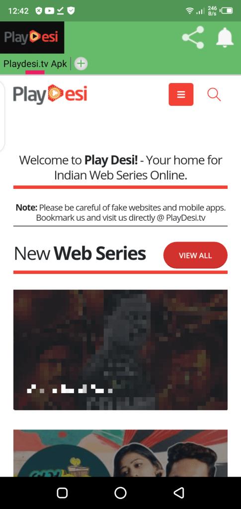 Screeenshot of Desi Cinema TV Android