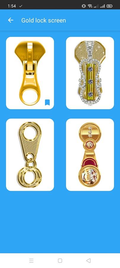 Screeenshot of Gold Screen Lock Apk