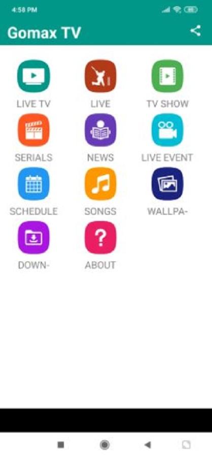 Screenshot of Gomax Live Apk