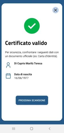 Screenshot of VerificaC19 Download