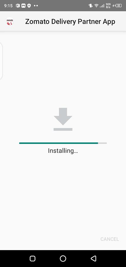 Screenshot di Zomato Delivery Partner Android