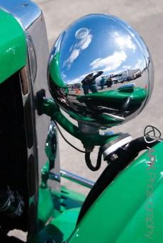 Green car, chrome, self