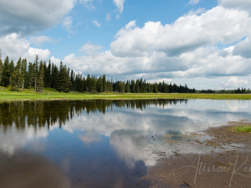 Summer reflection, Whirlpool Lake, Manitoba