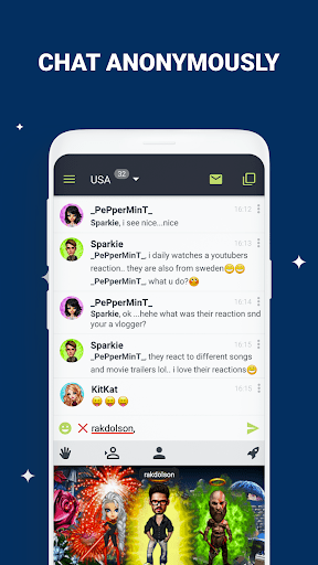 Anonymous Chat Rooms – Galaxy 9.4.12 screenshots 1