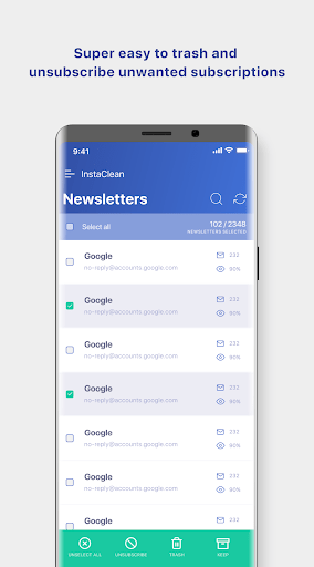 InstaClean – Clean amp secure your inbox 1.9.2 screenshots 2