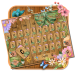 Download Wood Flower Garden Keyboard Theme 10001006 APK For Android