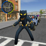 Panther Stickman Rope Hero spider Crime Battle 1.0